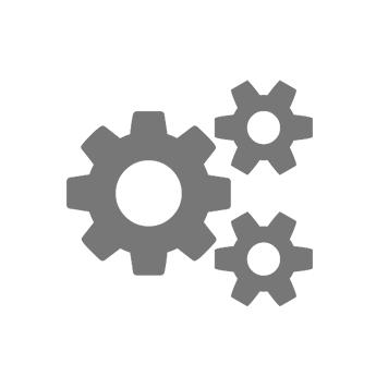 Ikona treh sivih zobnikov