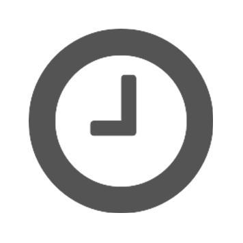 Siva ikona ure na belem ozadju