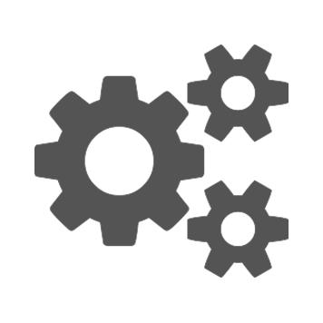 Siva ikona treh zobnikov na belem ozadju