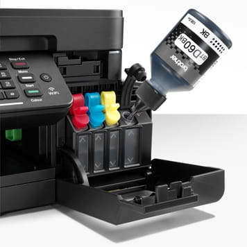 brother printer mfc-t910dw filling with the black ink