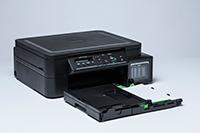 Črna brizgalna večfunkcijska naprava z izvlečenim pladnjem za papir_DCPT510W