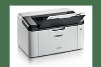 HL-1223WE črno-beli laserski tiskalnik obrnjen na desno s izpisanim dokumentom