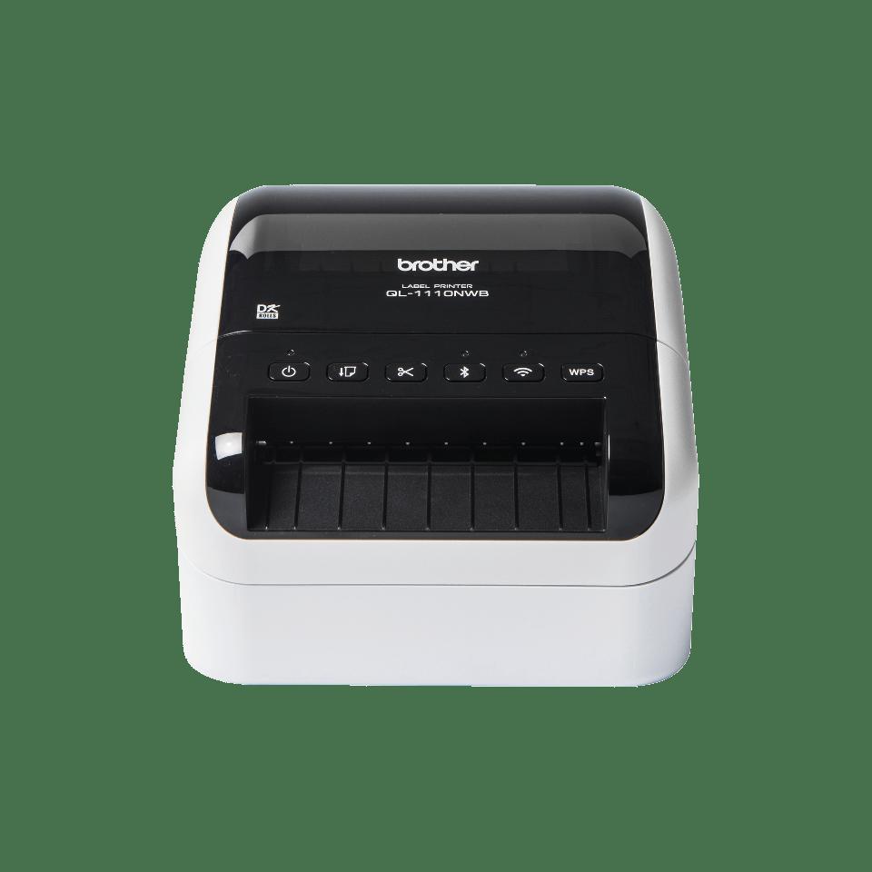 QL-1110NWB tiskalnik širokih transportnih nalepk s črtnimi kodami
