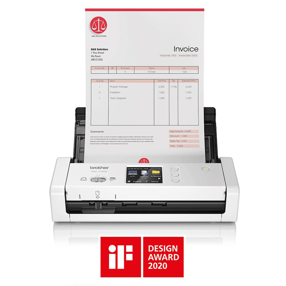 ADS-1700W pametni kompaktni dokumentni skener 4