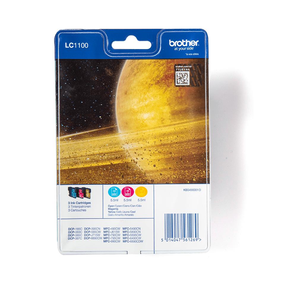 Originalna Brother LC1100RBWBP kartuša - paket Rainbow blister