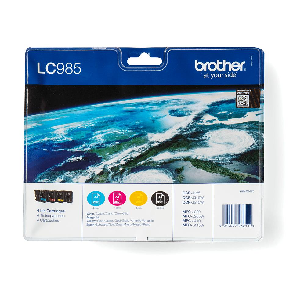 Originalna Brother LC985VALBP kartuša - paket