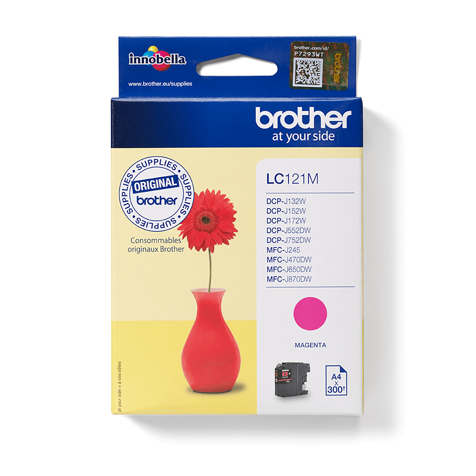 Originalna kartuša Brother LC121M – magenta