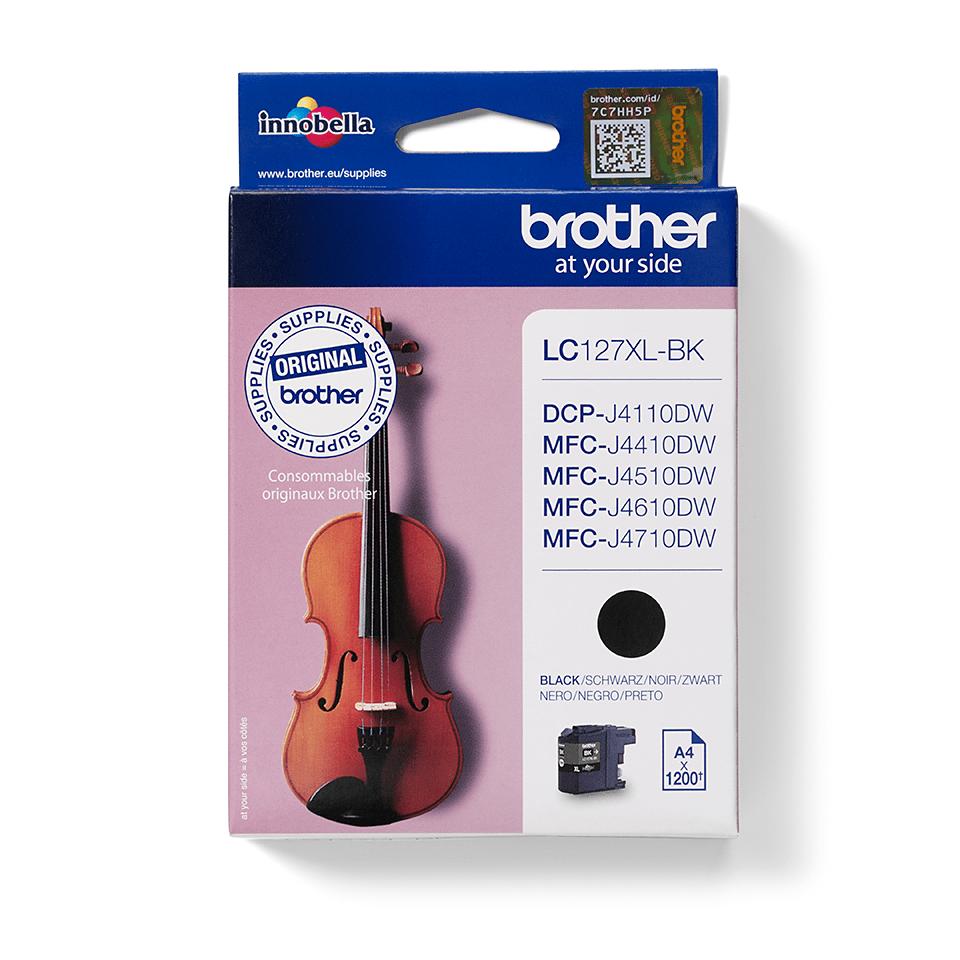 Originalna velika kartuša Brother LC127XLBK – črna