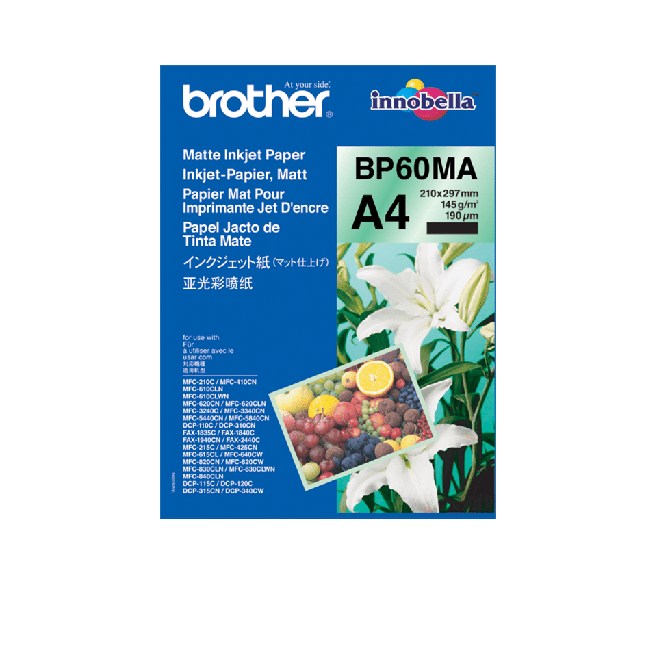 Originalen Brother BP60MA mat papir A4