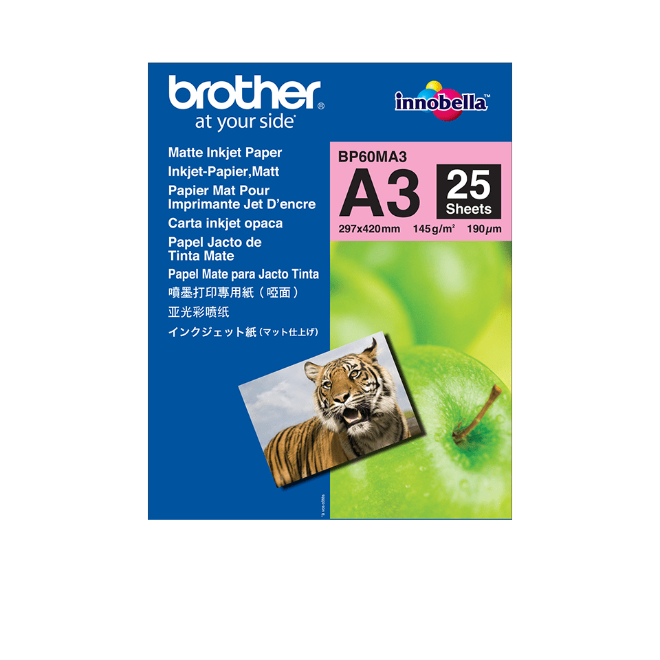 Originalen Brother BP60MA3 mat papir A3