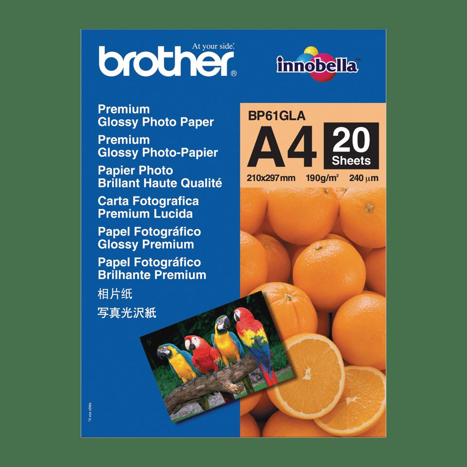 Originalen Brother BP61GLA svetleči foto papir A4