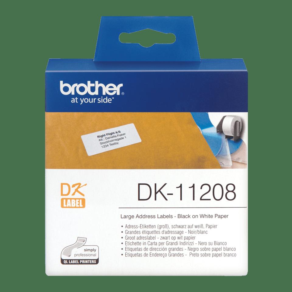 Originalna Brother DK-11208 rola za označevanje