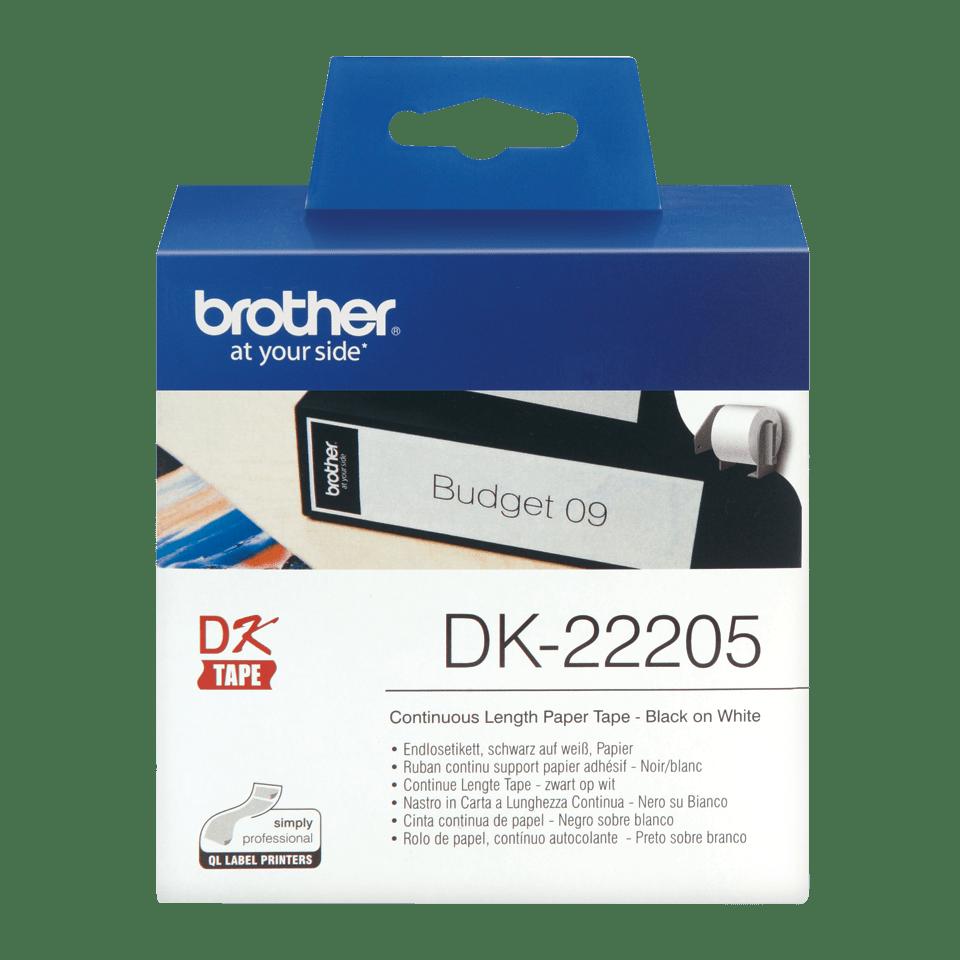 Originalna Brother DK-22205 rola z neskončnimi papirnatimi nalepkami