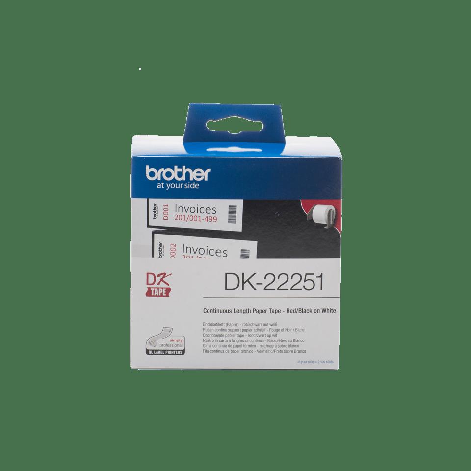 Originalna Brother DK-22251 rola z neskončnimi papirnatimi nalepkami