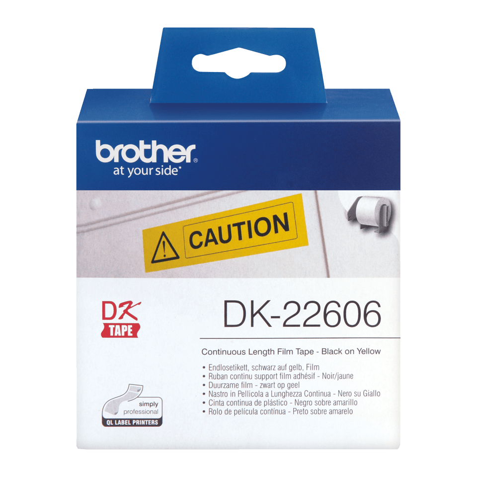 Originalna Brother DK-22606 rola z neskončnimi poliestrskimi nalepkami 2