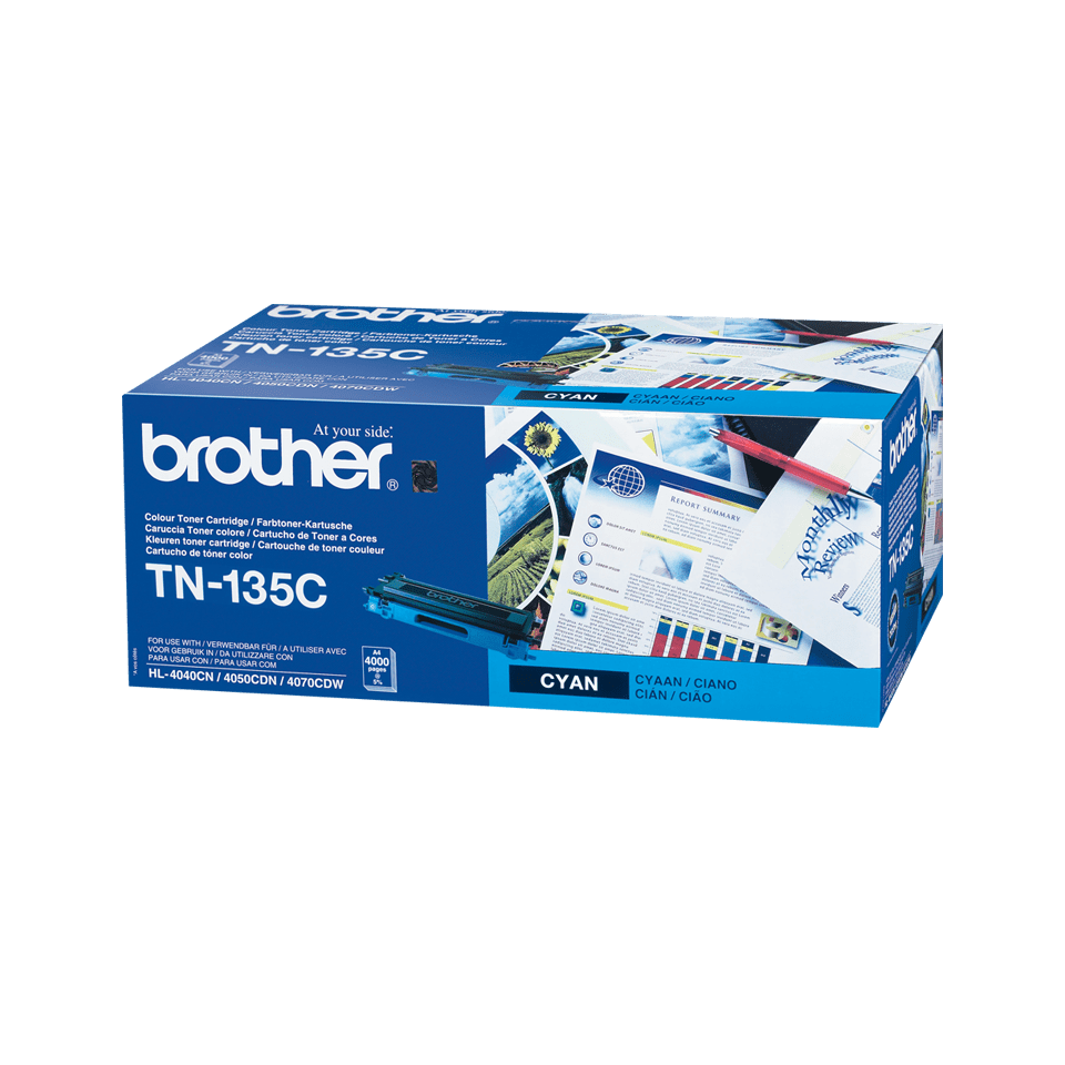 Originalen velik toner Brother TN-135C – cian