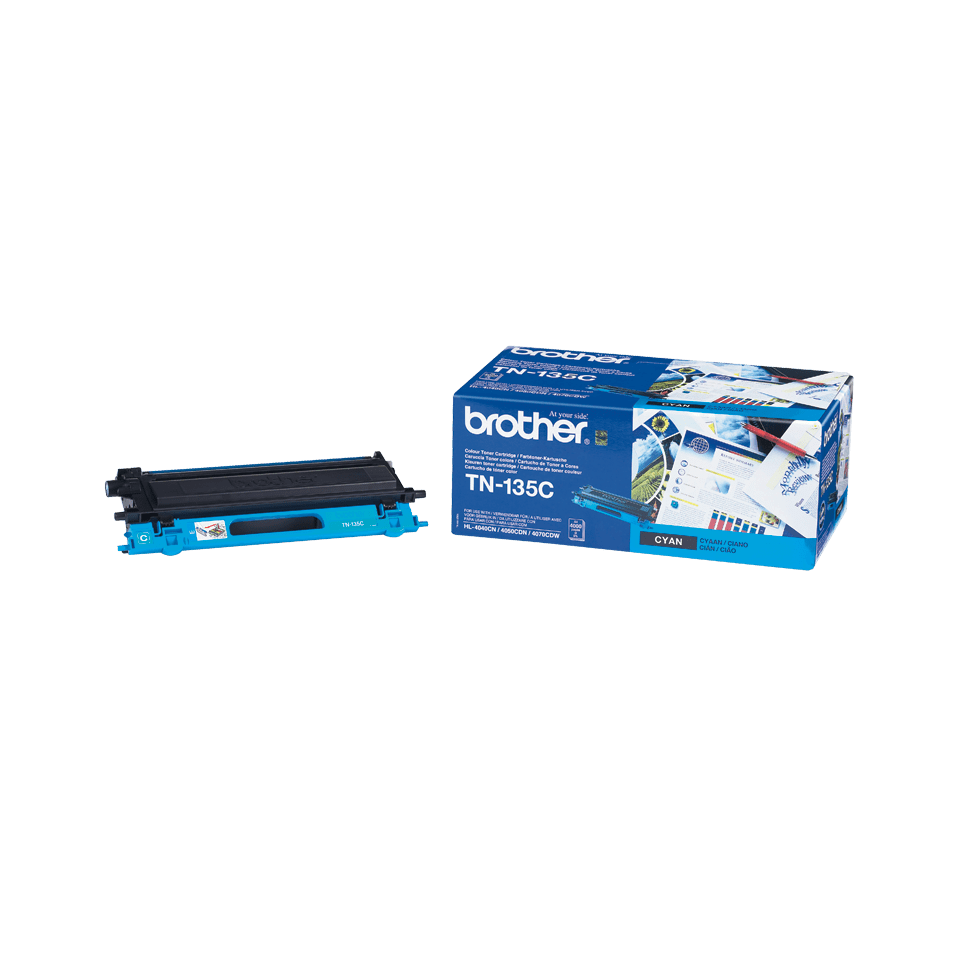 Originalen velik toner Brother TN-135C – cian 2