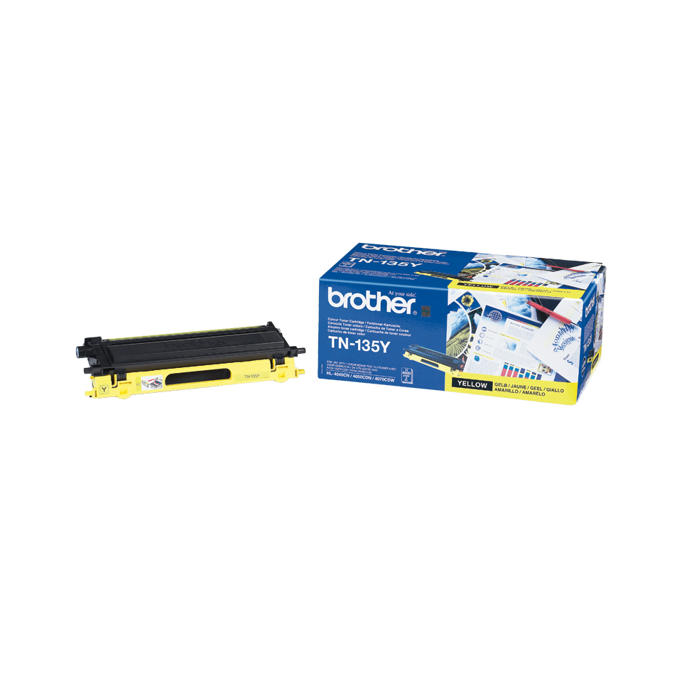 Originalen velik toner Brother TN-135Y – rumen