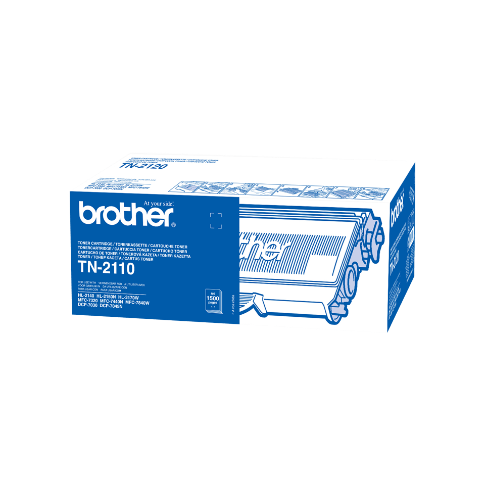 Originalen Brother TN-2110 toner – črni