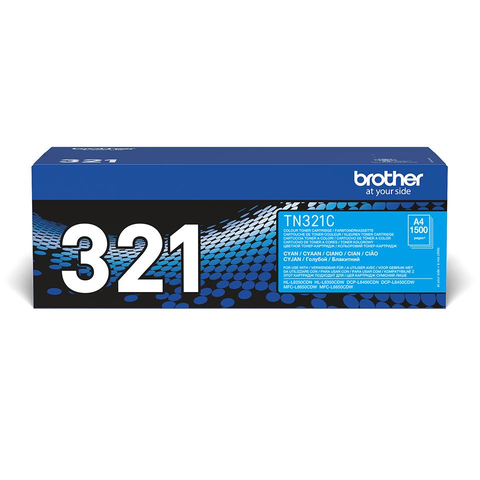 Originalen Brother TN-321C toner – cian