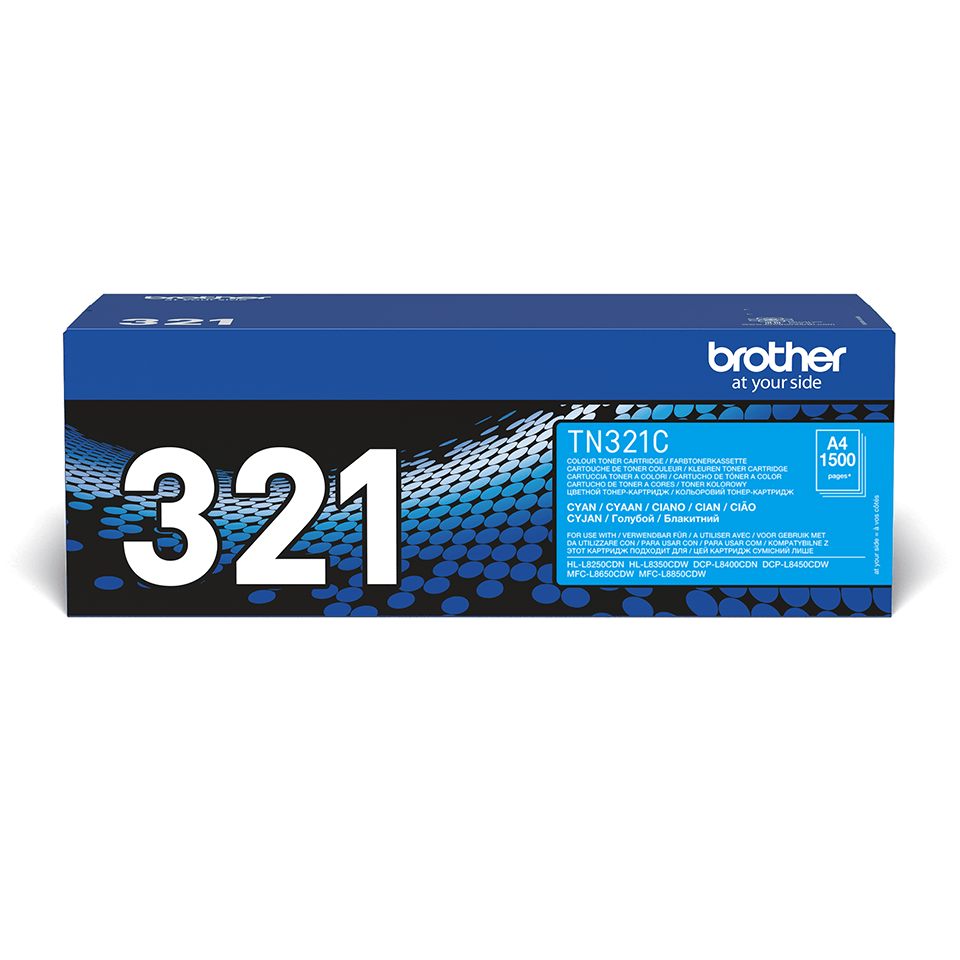 Originalen Brother TN-321C toner – cian