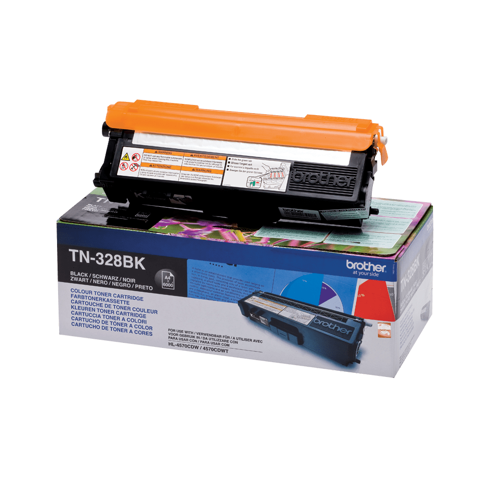 Originalen Brother TN-328BK toner – črn