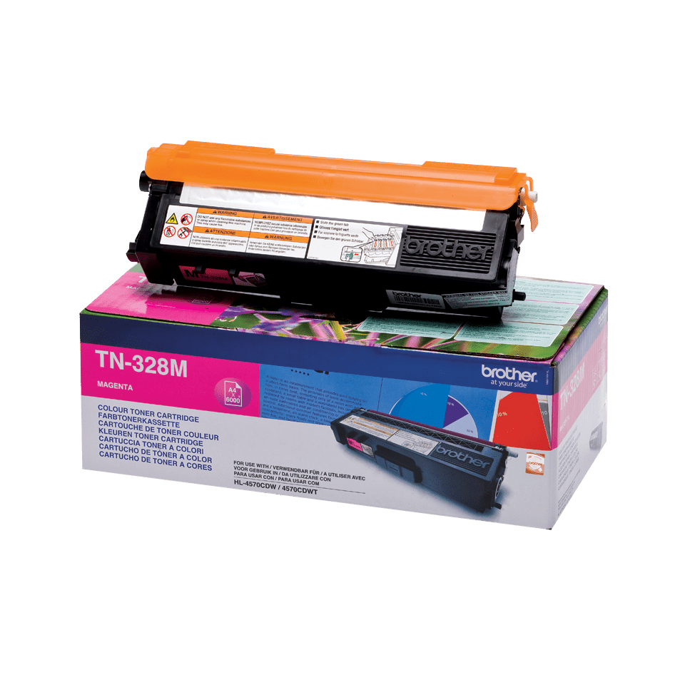 Originalen Brother TN-328M toner – magenta