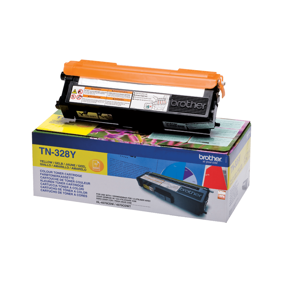 Originalen Brother TN-328Y toner – rumen