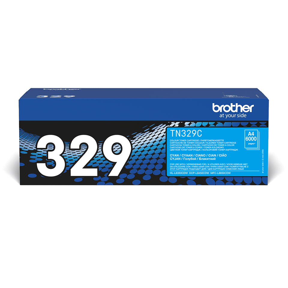 Originalen Brother TN-329C toner – cian