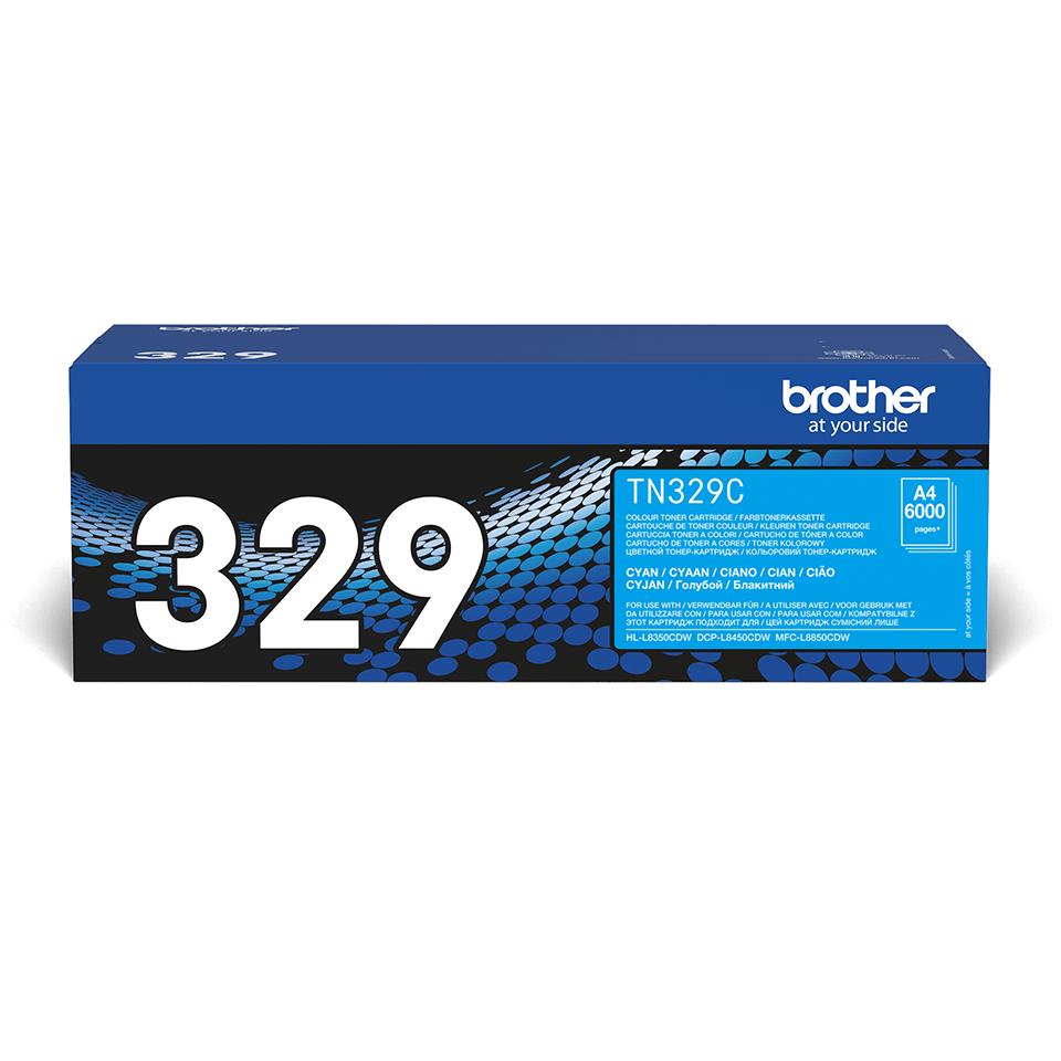 Originalen Brother TN-329C toner – cian