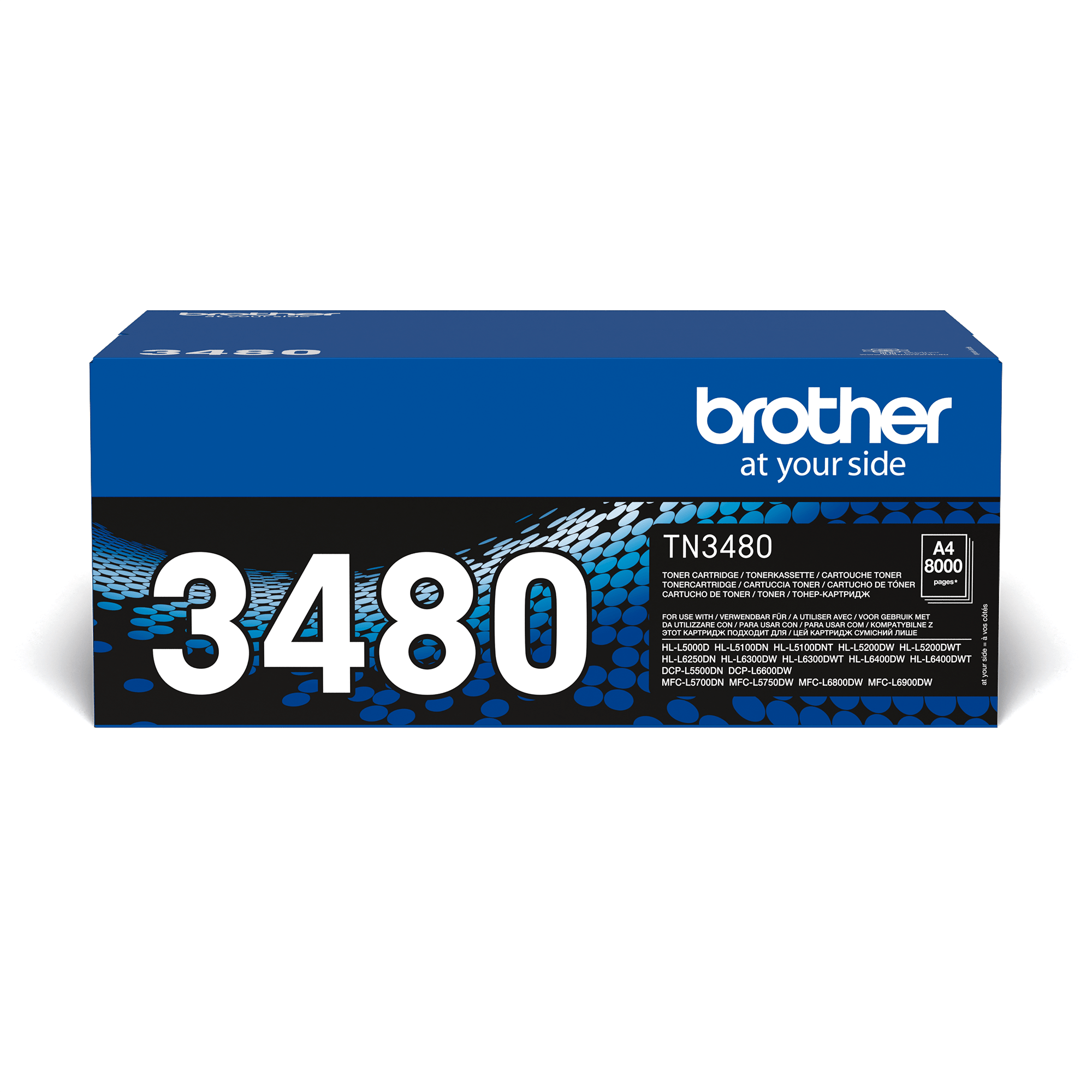 Originalen Brother TN-3480 veliki toner – črn