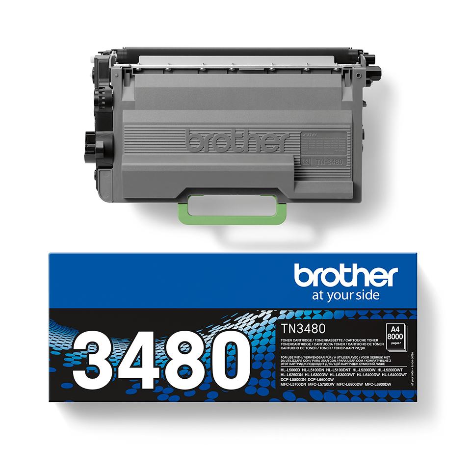 Originalen Brother TN-3480 veliki toner – črn 2