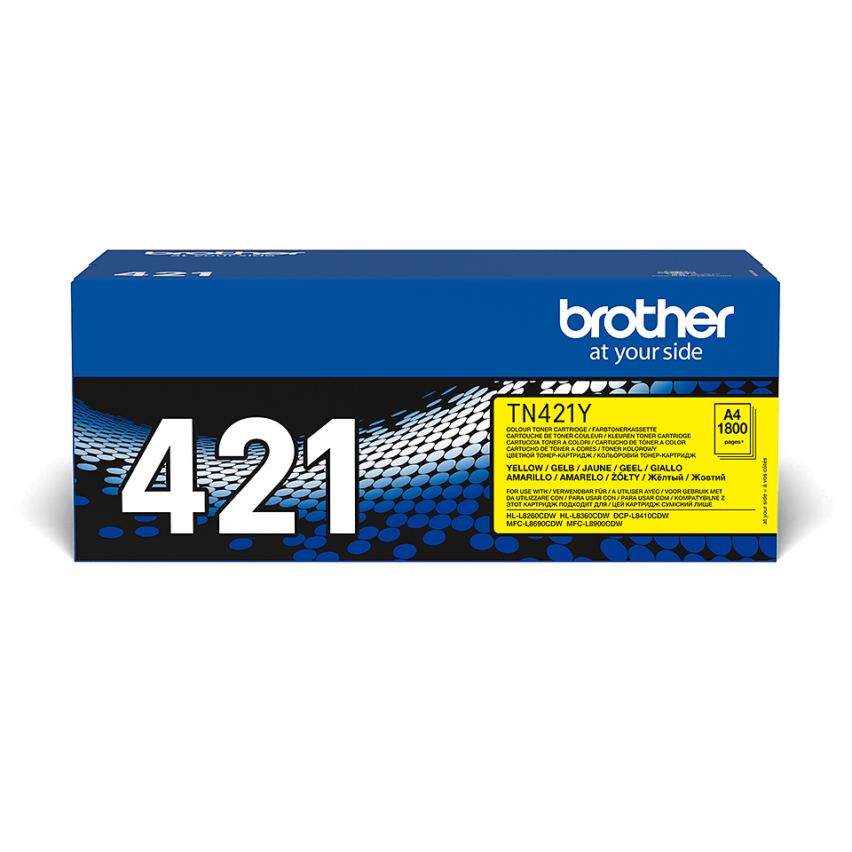 Originalen Brother TN-421Y toner – rumen