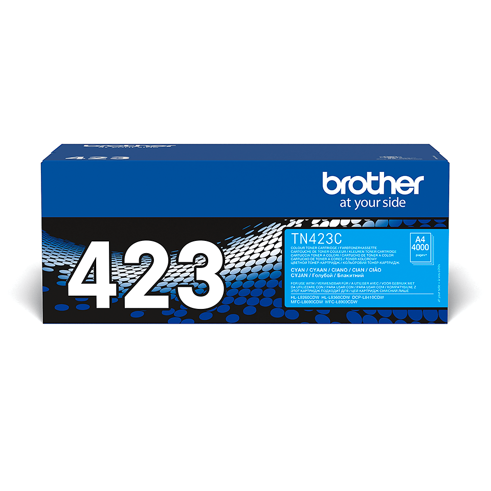 Originalen Brother TN-423C toner – cian