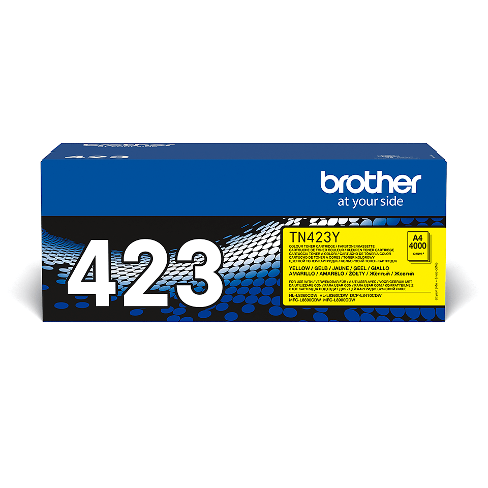 Originalen Brother TN-423Y toner – rumen