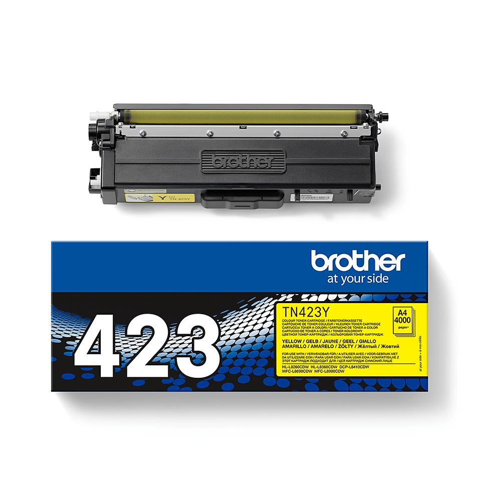 Originalen Brother TN-423Y toner – rumen 2