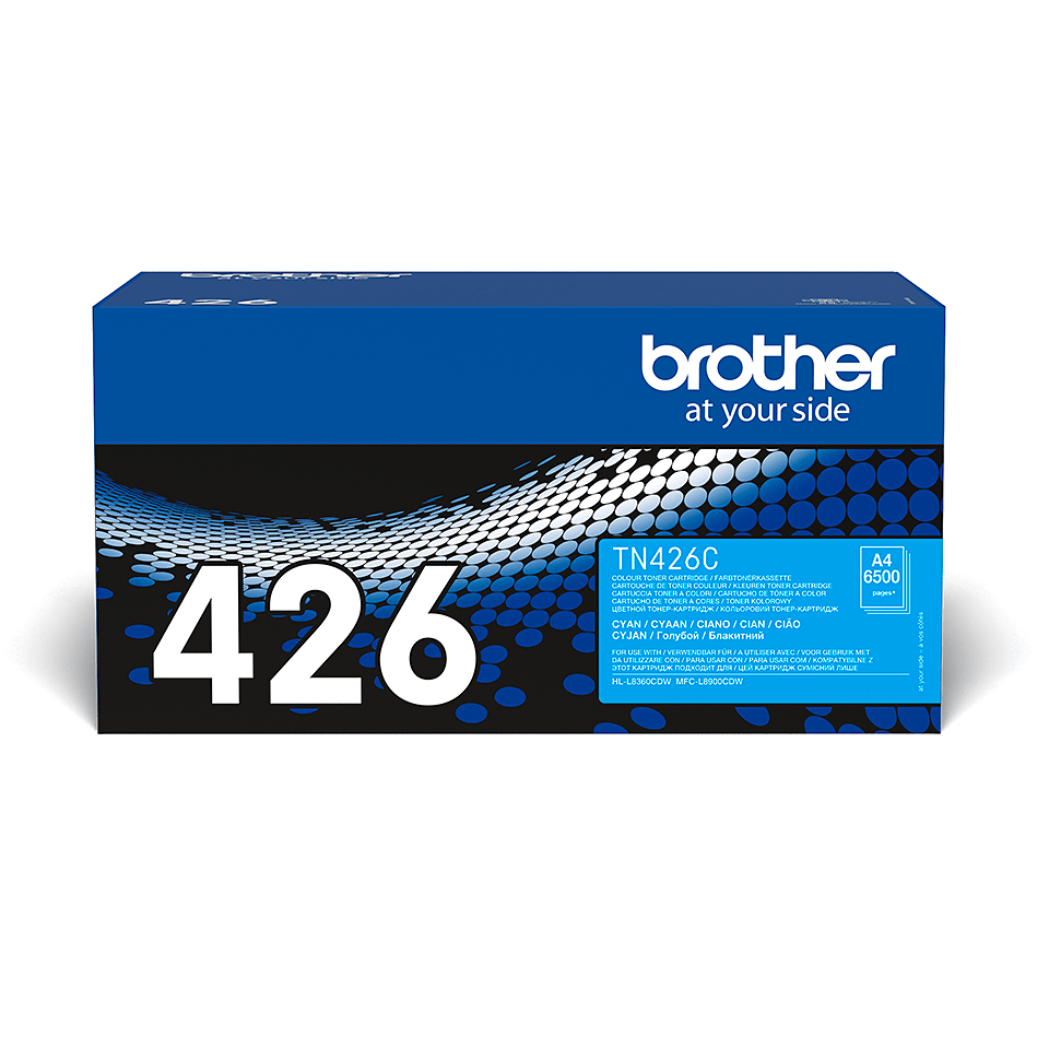 Originalen Brother TN-426C toner – cian