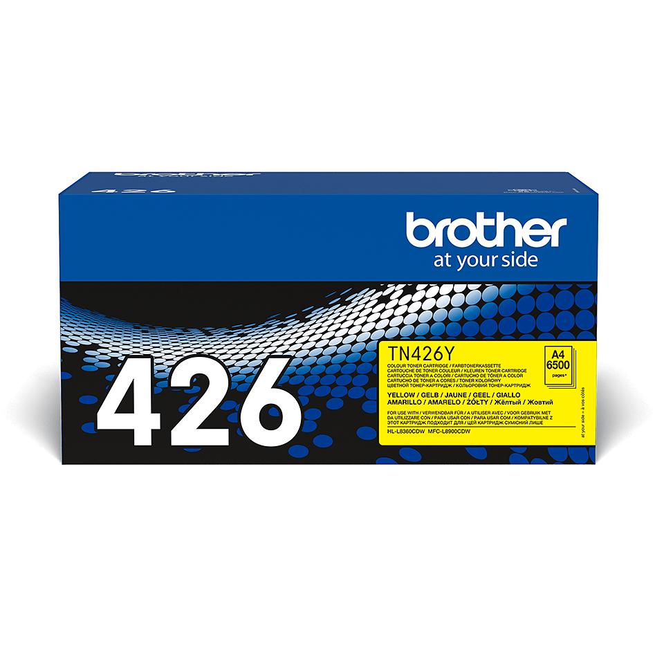 Originalen Brother TN-426Y toner – rumen