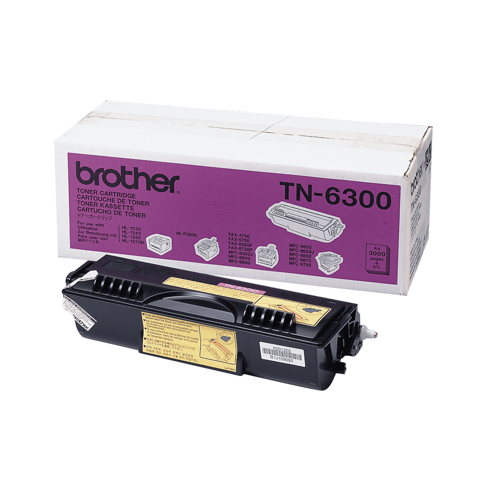 Originalen Brother TN-6300 veliki toner – črn