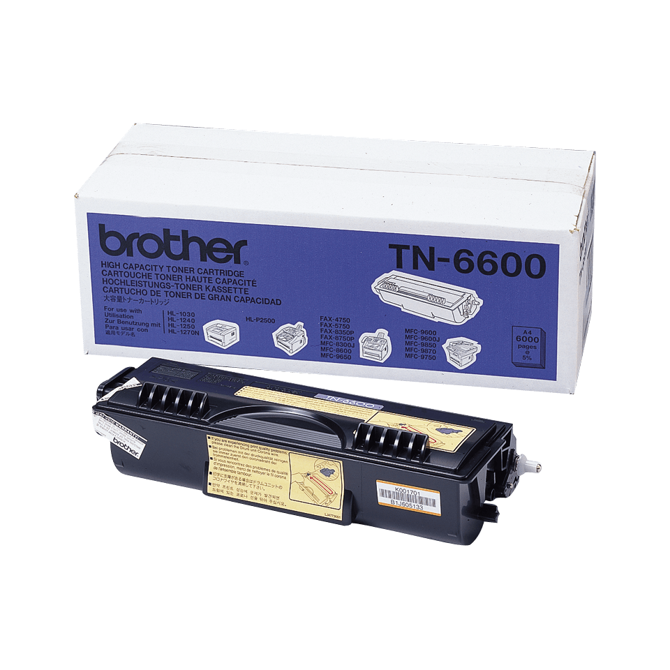 Originalen Brother TN-6600 veliki toner – črn