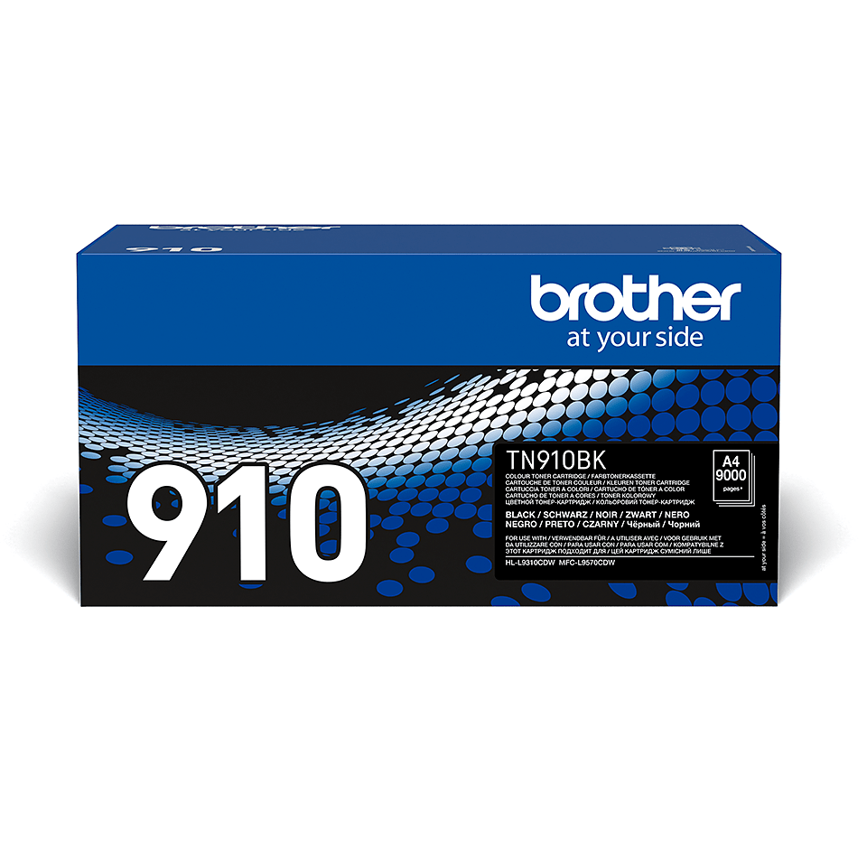 Originalen Brother TN-910BK toner – črn