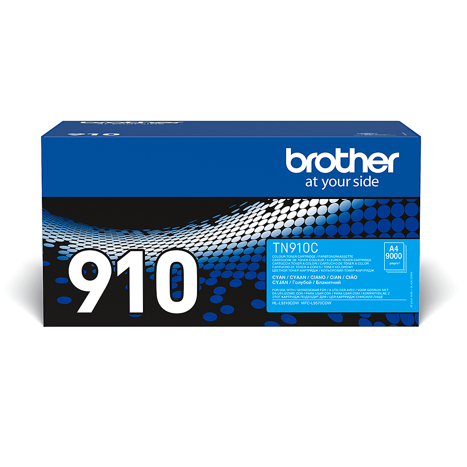Originalen Brother TN-910C toner – cian