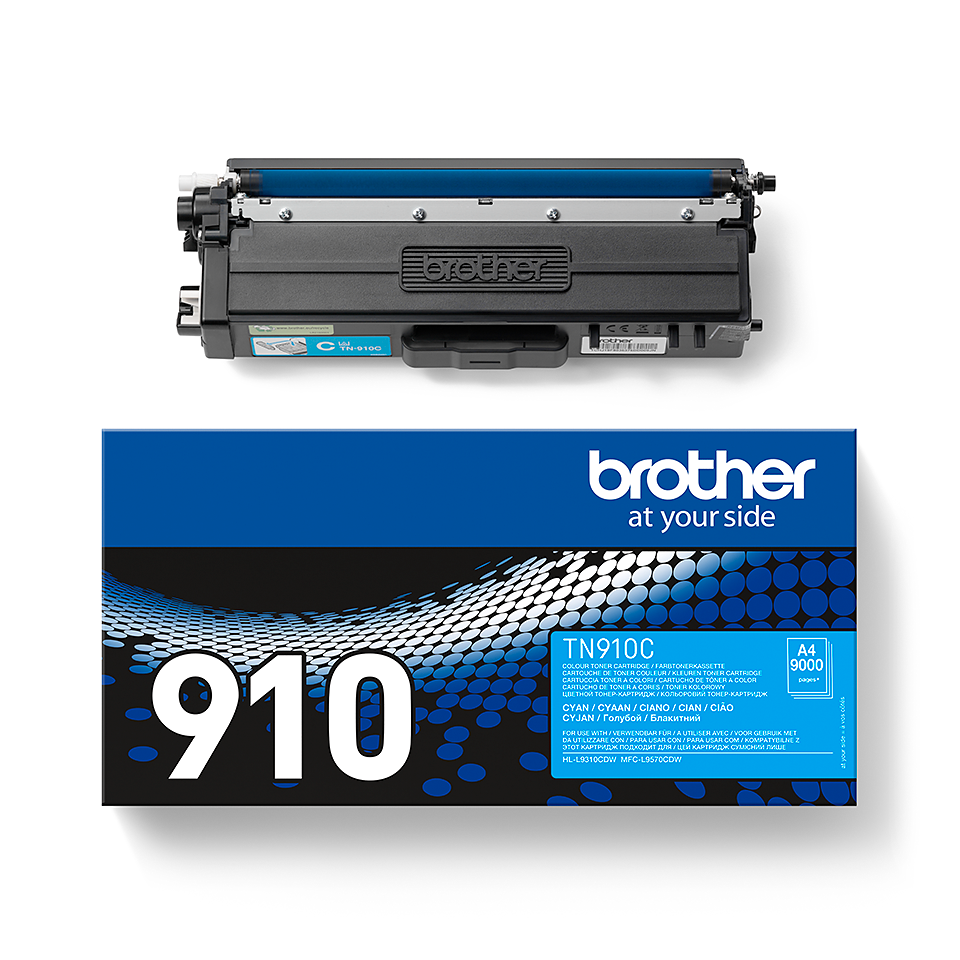 Originalen Brother TN-910C toner – cian 2