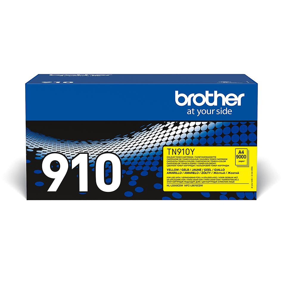 Originalen Brother TN-910Y toner – rumen