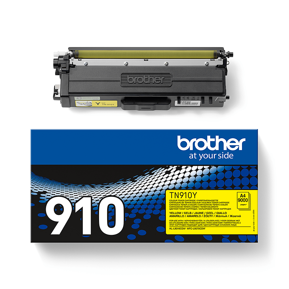 Originalen Brother TN-910Y toner – rumen 2