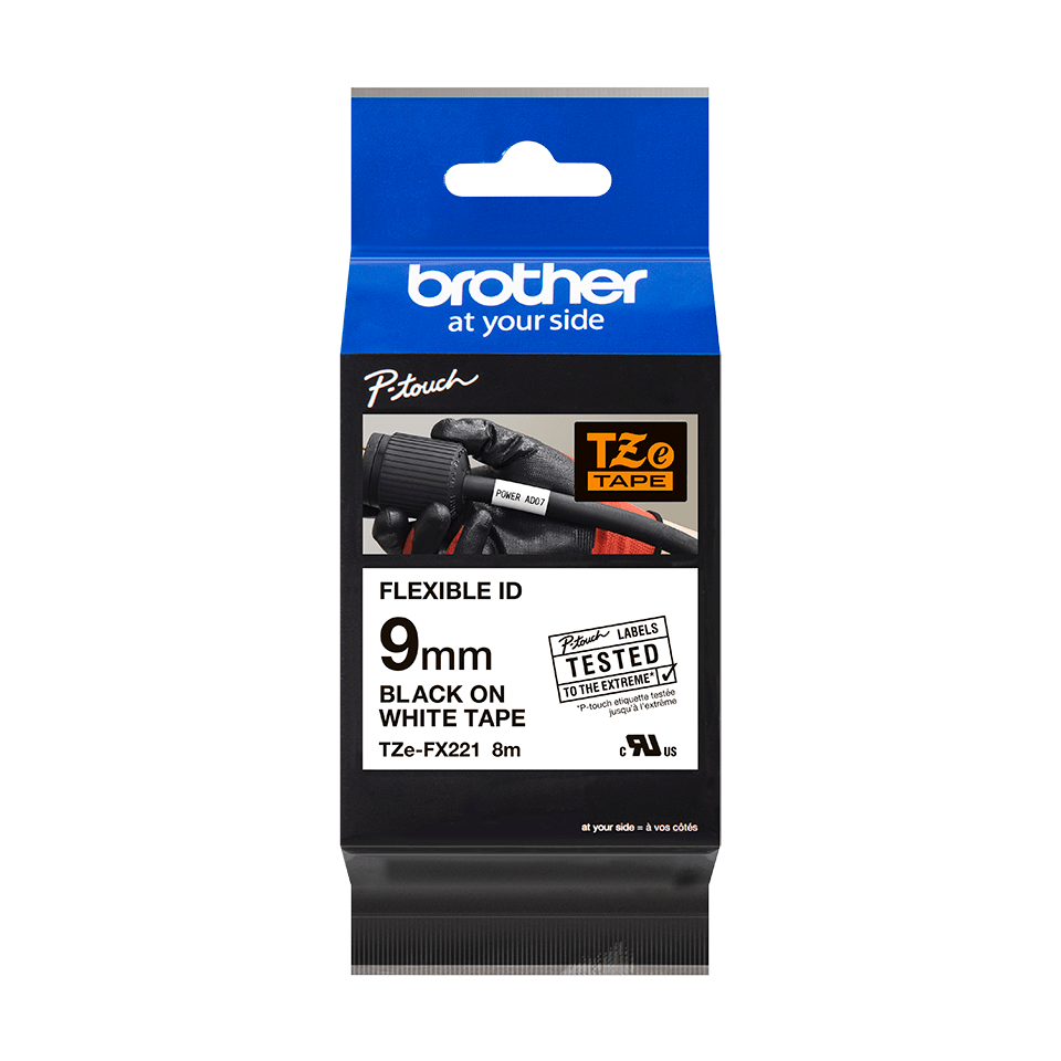 Originalna Brother TZe-FX221 kaseta s prilagodljivim ID-trakom za označevanje 3