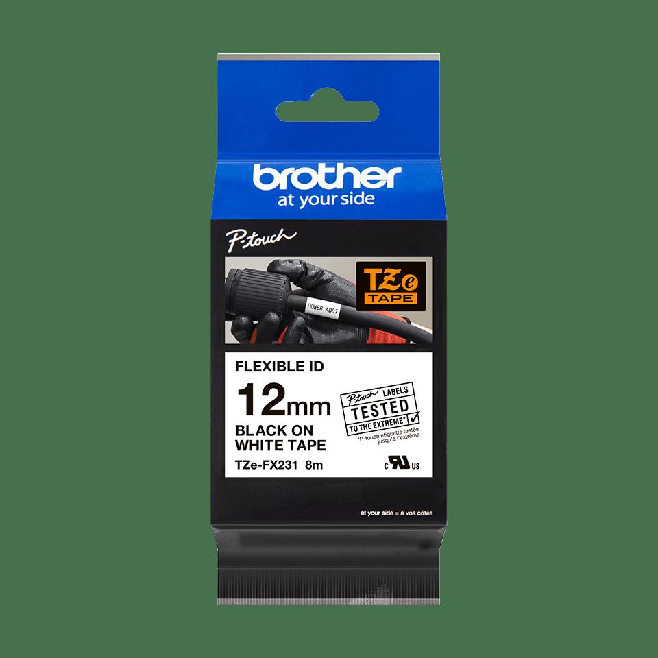 Originalna Brother TZe-FX231 kaseta s prilagodljivim ID-trakom za označevanje 3