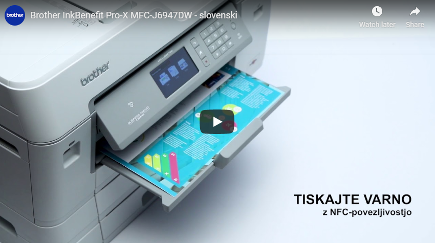 MFC-J6947DW brezžična A3 barvna brizgalna večfunkcijska naprava za tiskanje, kopiranje, skeniranje in faksiranje* 7